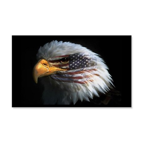American Flag Eagle 20x12 Wall Peel
