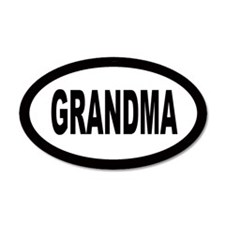 Grandma Car 35x21 Oval Wall Peel