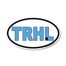 "North Carolina Tarheels ""TRHL"" 20x12 Oval Wall Pee"