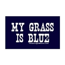 Famous My Grass is Blue 35x21 Wall Peel
