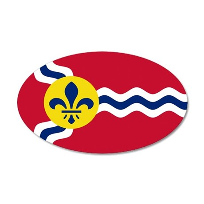 St. Louis Flag 35x21 Oval Wall Peel