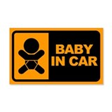 Baby in Car 20x12 Wall Peel