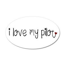 I Love my Pilot 35x21 Oval Wall Peel