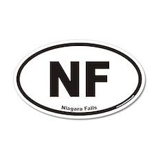 Niagara Falls NF Euro 20x12 Oval Wall Peel