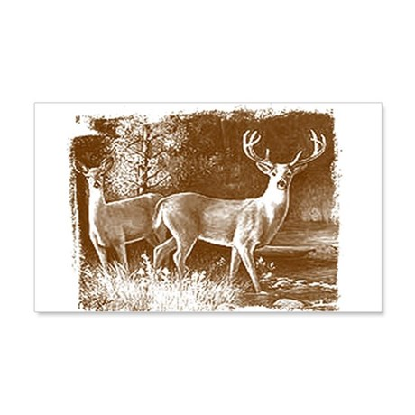 Wildlife Deers 20x12 Wall Peel