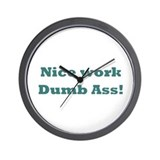 FF Dumb Ass Wall Clock