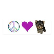 Peace Love and Yorkie 36x11 Wall Peel