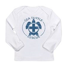 Sea Turtle Rescue Long Sleeve Infant T-Shirt