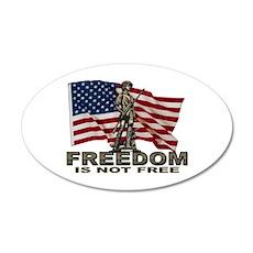 FREEDOM NOT FREE 35x21 Oval Wall Peel