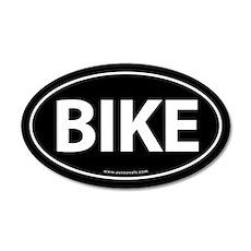 Bike Traditional Auto Sticker -Black (Oval)