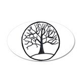Tree of Life 35x21 Oval Wall Peel