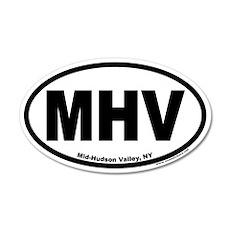 Mid-Hudson Valley, NY 35x21 Oval Wall Peel