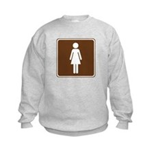 Women's Restroom Sign Sweatshirt