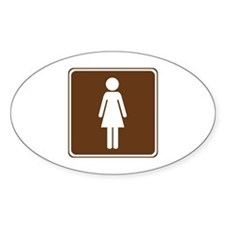 Women's Restroom Sign Decal