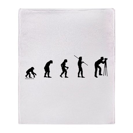 Photog Evolution Throw Blanket