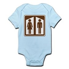 Restroom Sign Infant Bodysuit