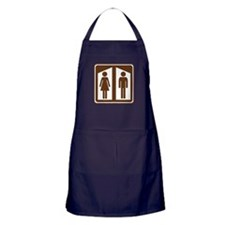 Restroom Sign Apron (dark)