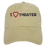 I Love Theater Baseball Cap