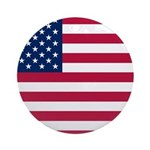 US Flag Ornament (Round)