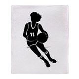 BASKETBALL *61* {black} Throw Blanket