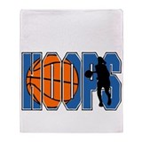 HOOPS *2* {blue} Throw Blanket