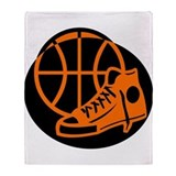 BASKETBALL *32* [orange} Throw Blanket