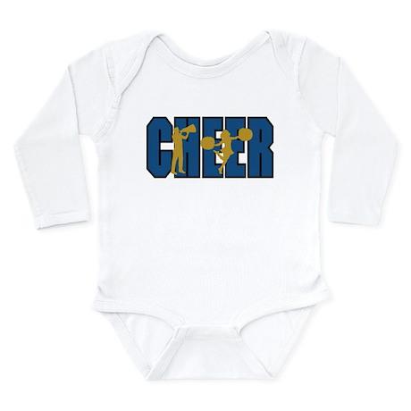 CHEER *15* {blue/gold} Long Sleeve Infant Bodysuit