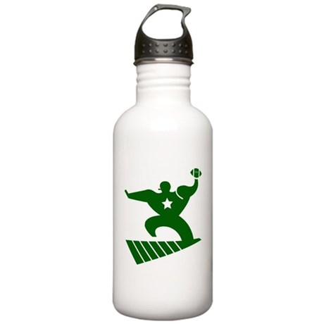 FOOTBALL *45* {green/white} Stainless Water Bottle
