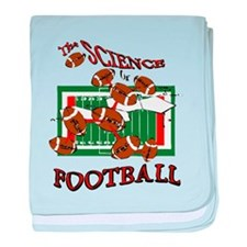 FOOTBALL *28* {orange} baby blanket