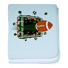 FOOTBALL *24* {green} baby blanket