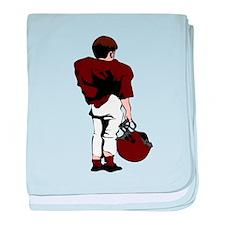 FOOTBALL *22* {crimson} baby blanket