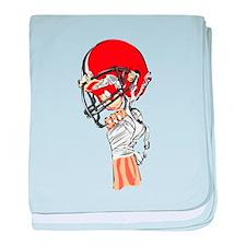 FOOTBALL *13* {orange} baby blanket