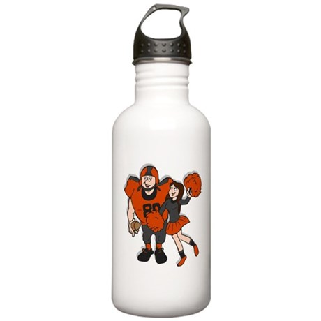 FOOTBALL *9* {orange/gray} Stainless Water Bottle