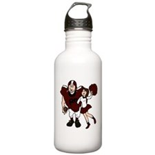 FOOTBALL *9* {crimson} Water Bottle