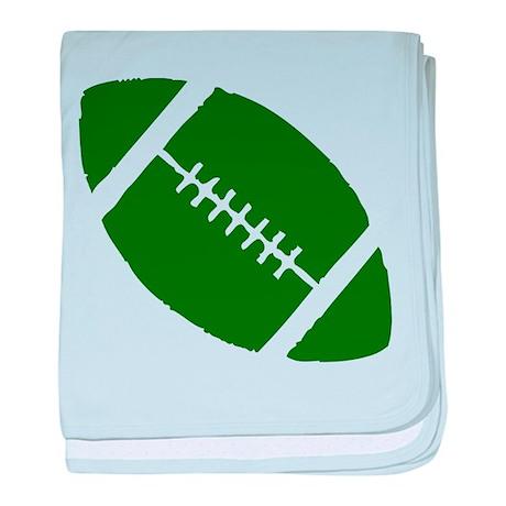 FOOTBALL *1* {green2} baby blanket