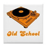 Old School Turntable Tile Coaster