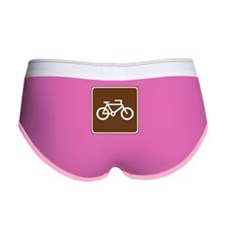Bicycle Trail Sign Women's Boy Brief