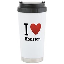 I Love Houston Ceramic Travel Mug
