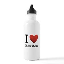 I Love Houston Water Bottle