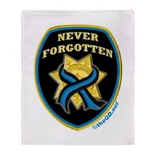 Thin Blue Line NeverForgotten Throw Blanket