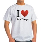I Love San Diego Light T-Shirt