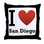I Love San Diego Throw Pillow
