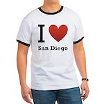 I Love San Diego Ringer T