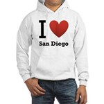 I Love San Diego Hooded Sweatshirt