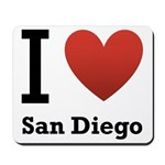 I Love San Diego Mousepad