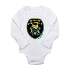 Thin Blue Line Support Police Long Sleeve Infant B