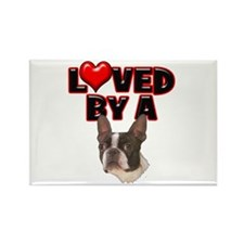 Loved by a Boston Terrier Rectangle Magnet (10 pac
