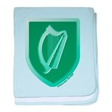 IE Gaelic Harp Emerald Ireland/Eire baby blanket