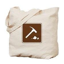 Rock Collecting Sign Tote Bag