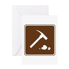 Rock Collecting Sign Greeting Card